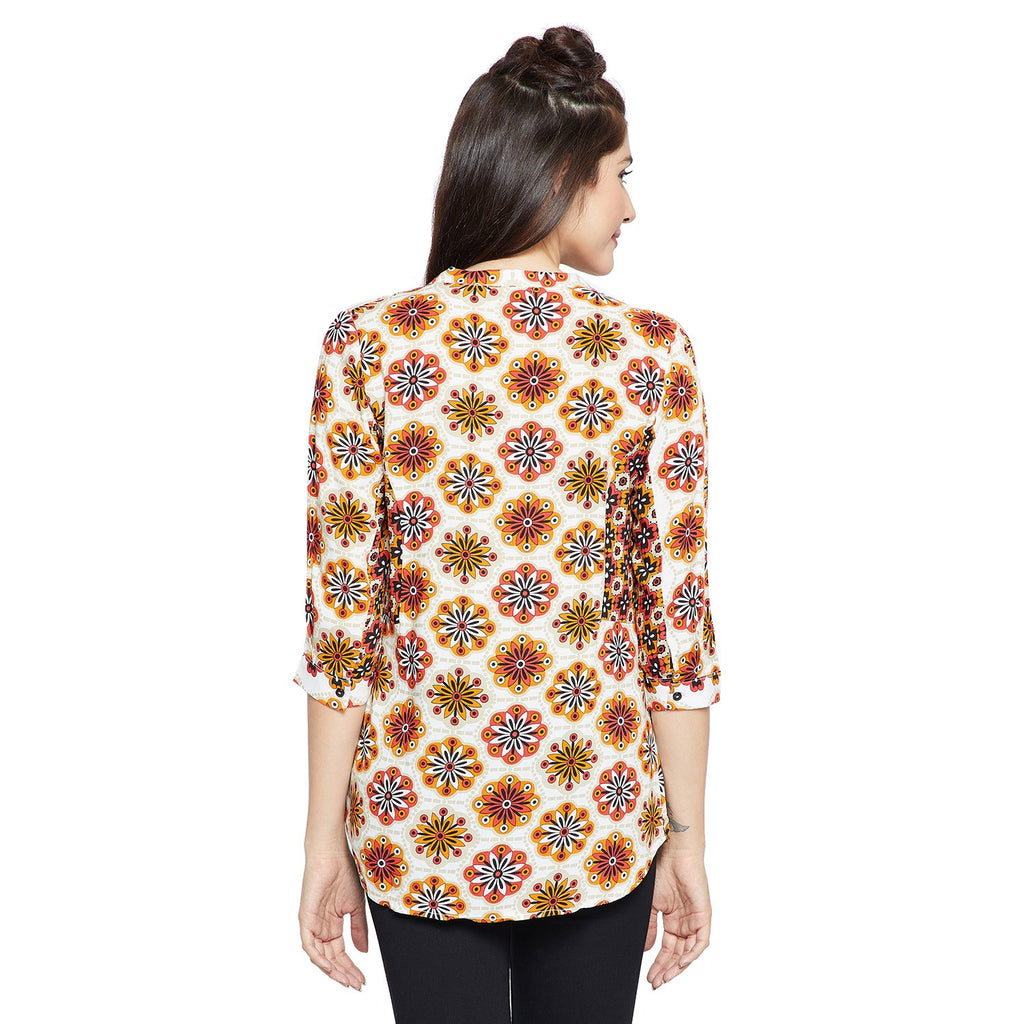 Multicolored Printed Top