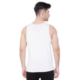 Camla Men White Printed Vest
