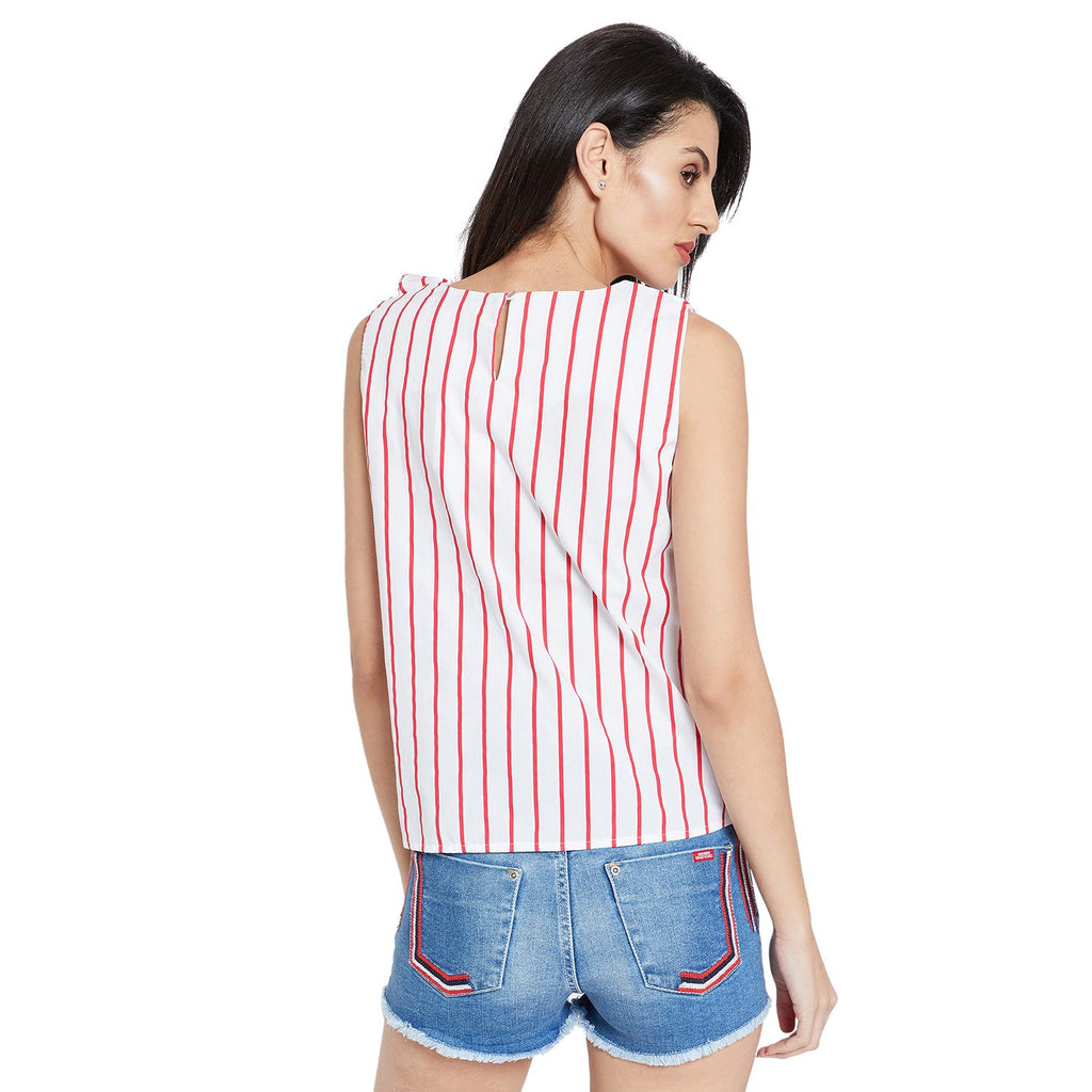 White Striped Top