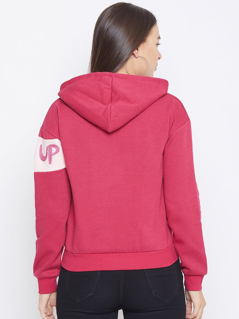 Camla Raspberry Color Sweatshirt For Women