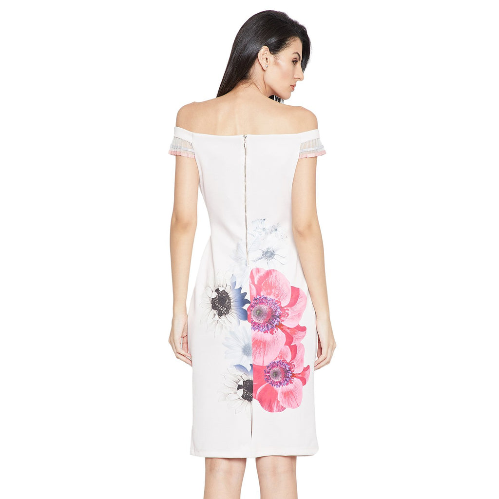 Madame Off Shoulder Printed Dress