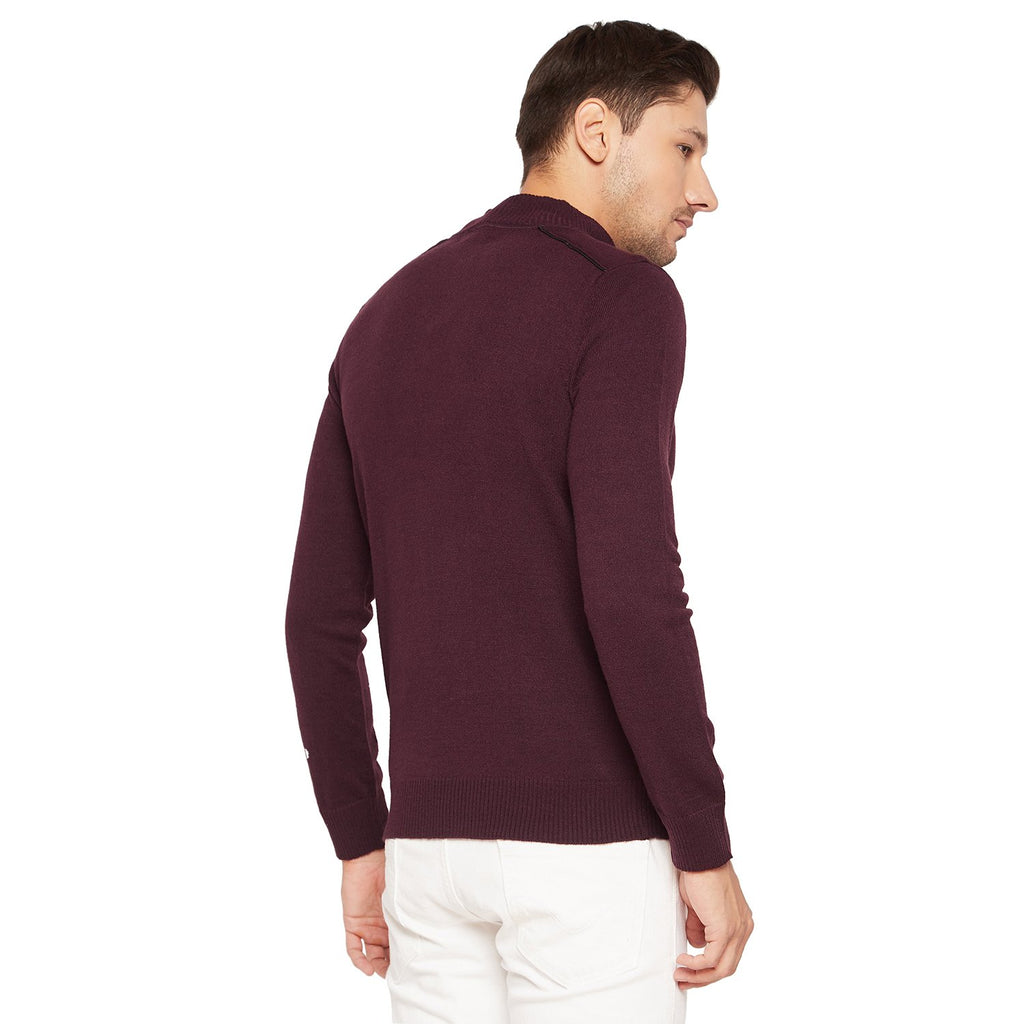 Mens Straight Fit Slub Sweater