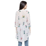 Madame White Printed Casual Shirt