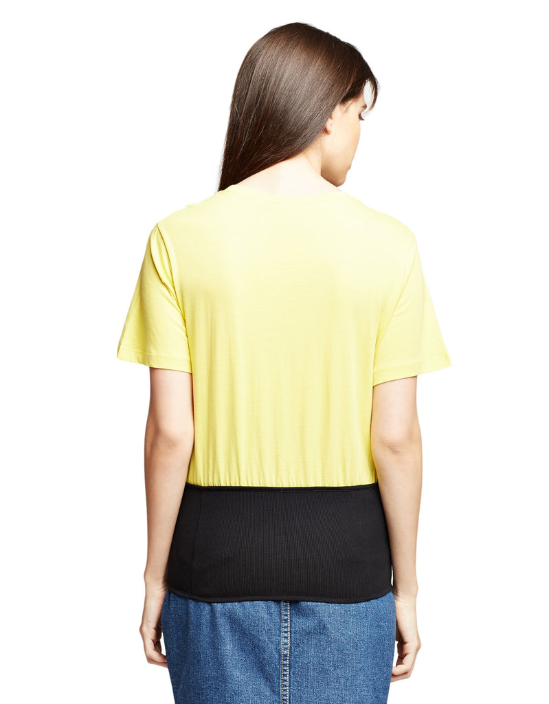 Yellow Casual Top