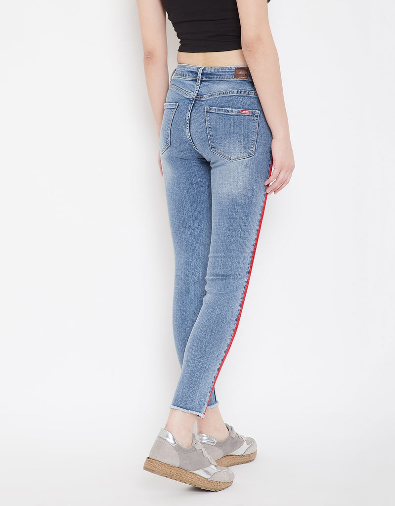 Light Blue Color Denim Jeans For Women