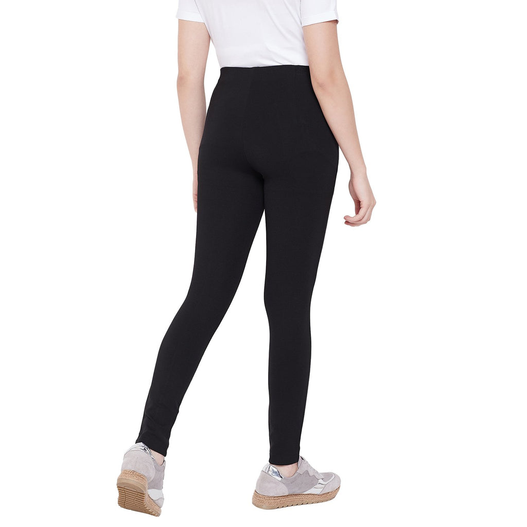 Madame Solid Casual Trouser