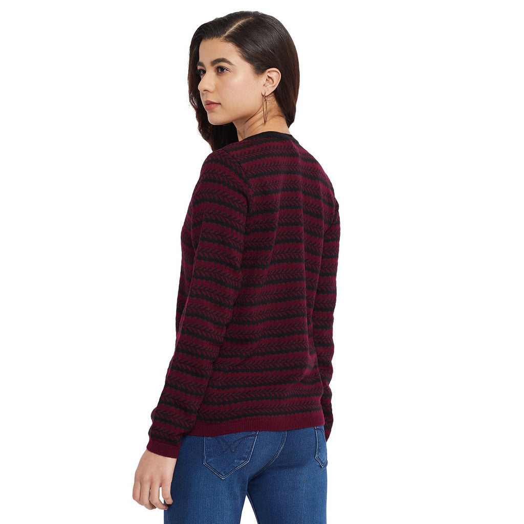 Madame Wine Color Cardigans For Women