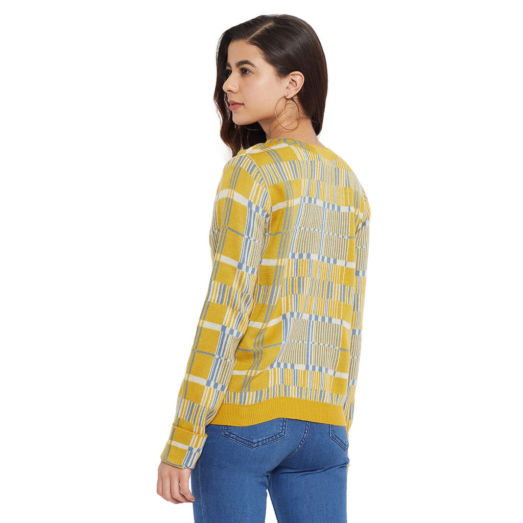 Madame Mustard Color Sweater For Women