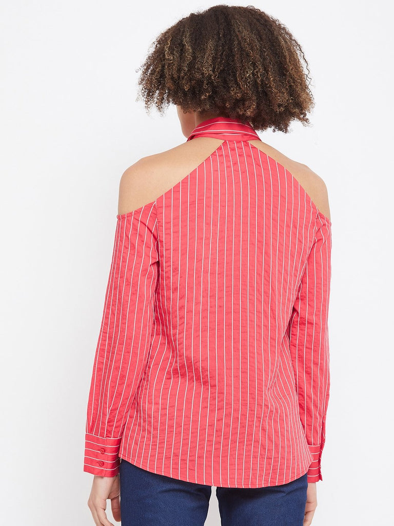 Camla Red Color Shirt For Women