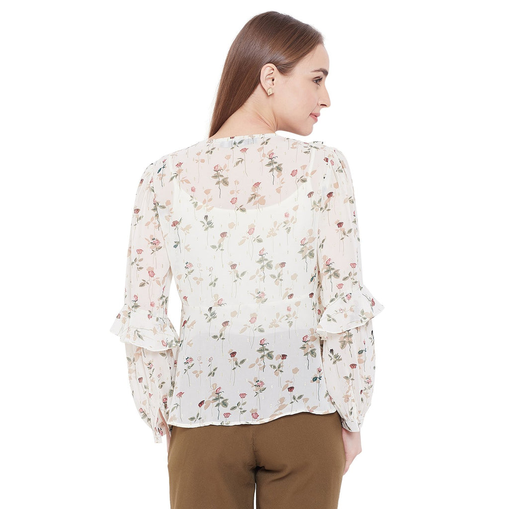 Madame Women Off White Top