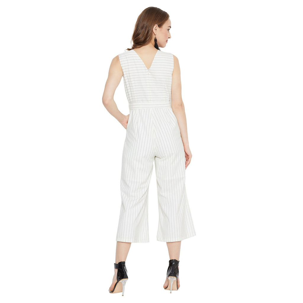 Madame Off White Color Jump Suits