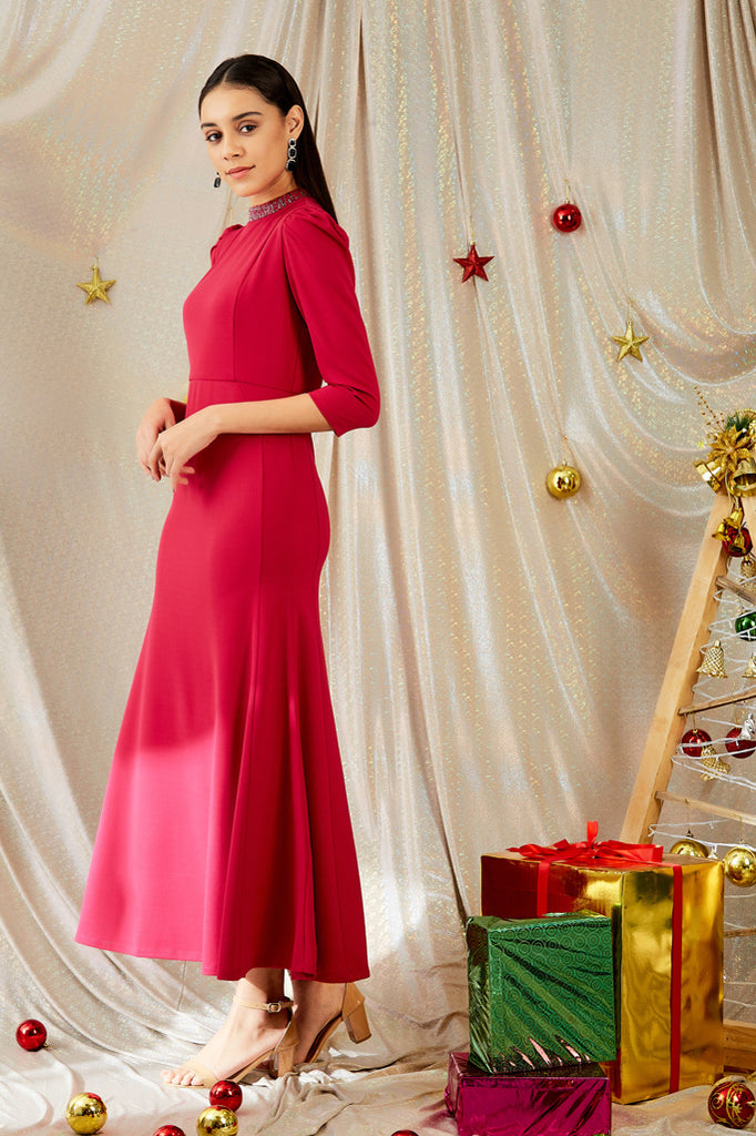 Madame Pink Color Dress