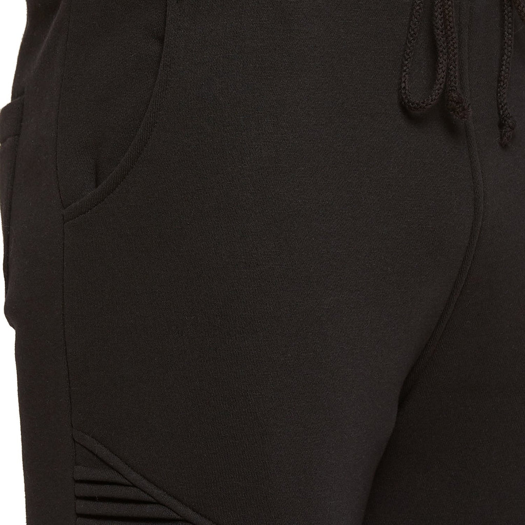 Black Solid Jogger