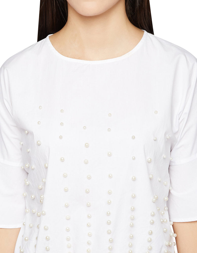 White Embellished Top