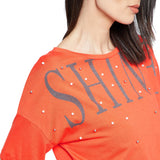 Madame Orange Embellished Top
