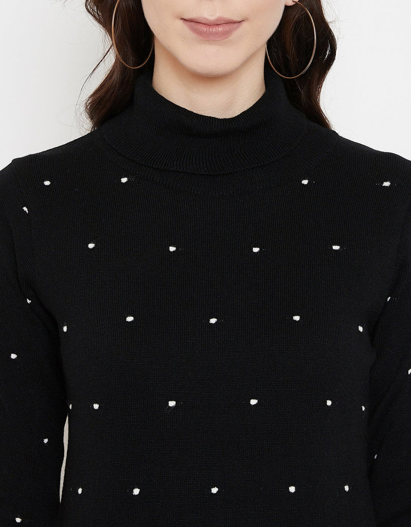 Madame Black Sweater For Women