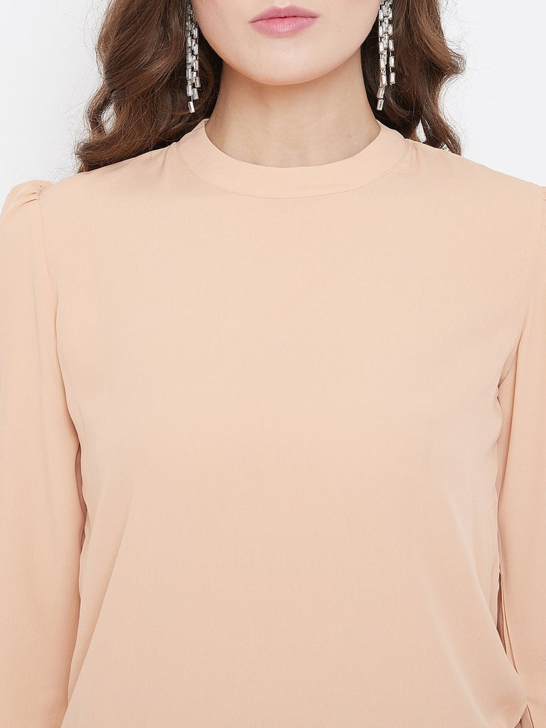 Camla Peach Color Shirt For Women
