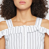 Madame White Striped Top