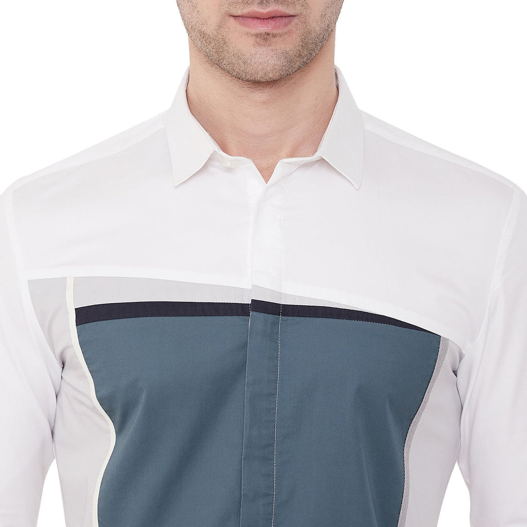 Camla Men White Casual Shirt