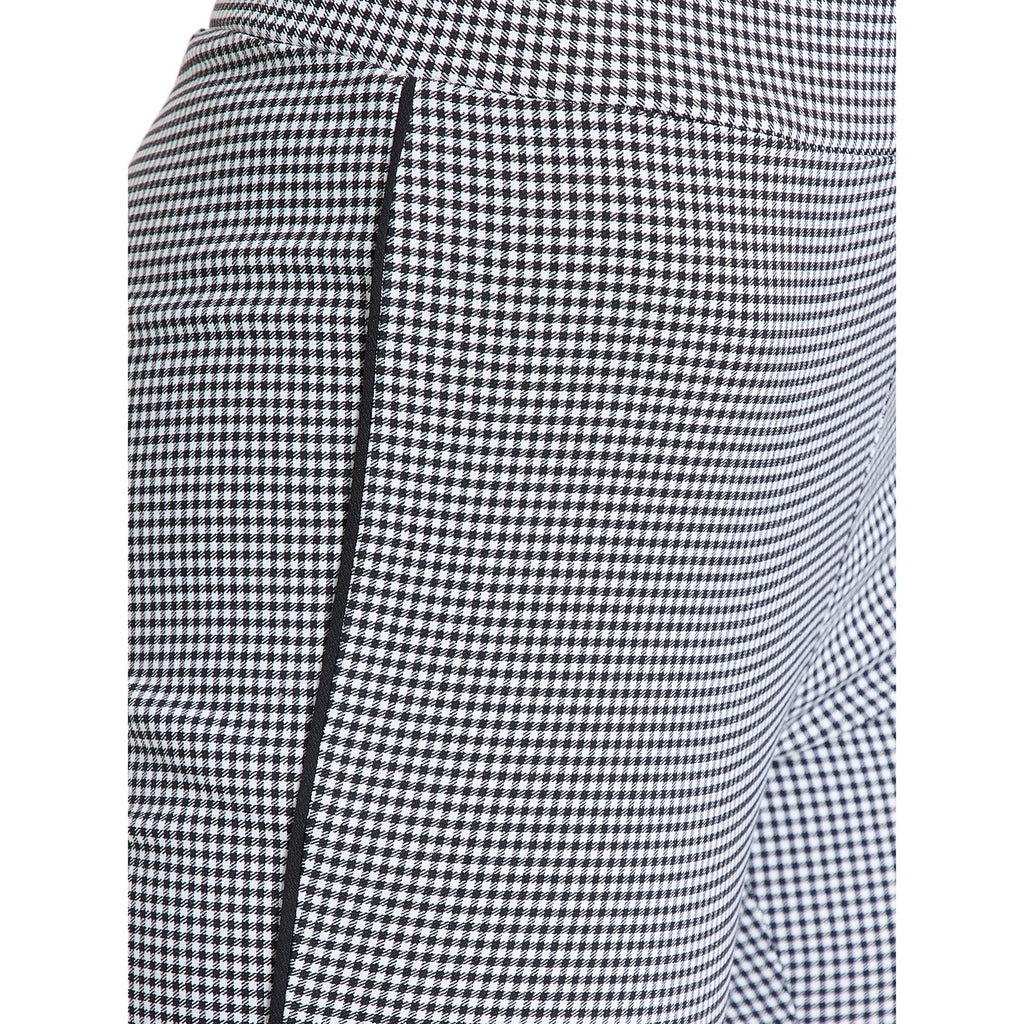 Madame Black Checked Trouser