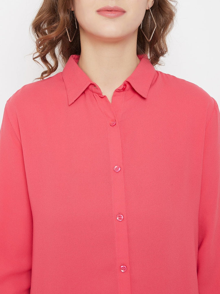 Madame Pink Color Shirt For Women