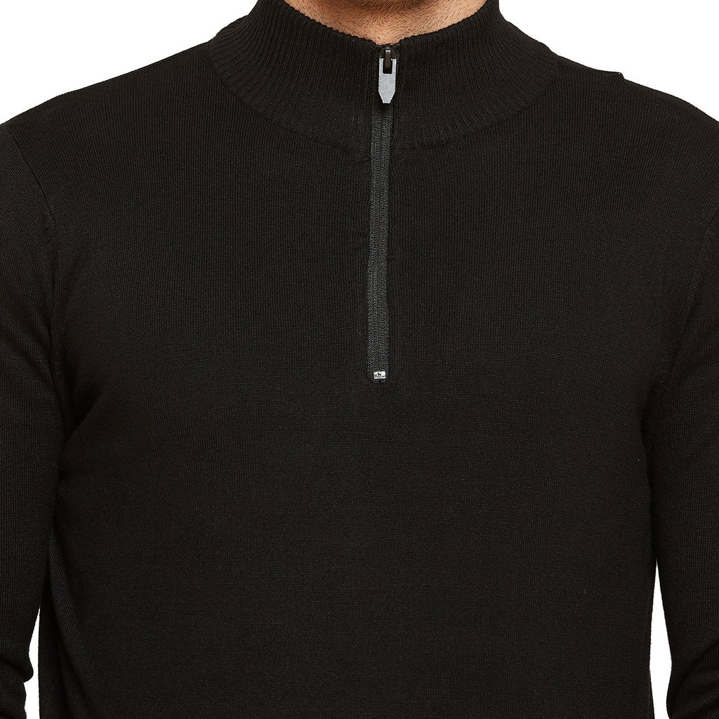 Camla Black Solid Casual Sweater