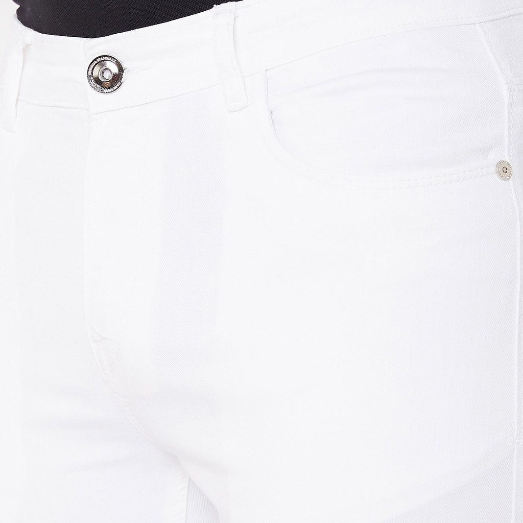 Camla Men White Denim