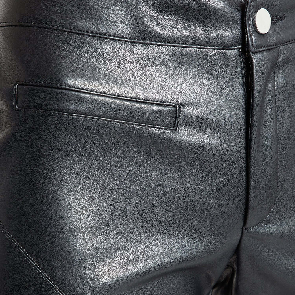 Black Solid Regular Fit Trouser