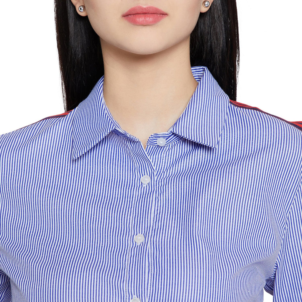 Women's Solid Striped Shirt