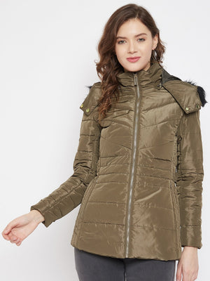 Madame Olive Color Jacket For Women