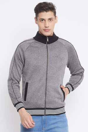 Camla Grey Color Sweat-Shirt For Mens