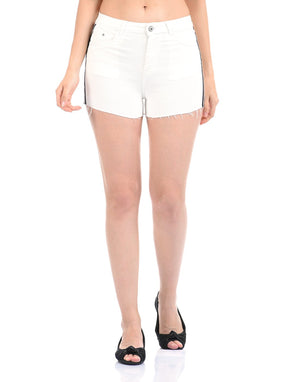Madame Off White Color Short For Women