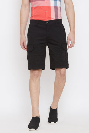 Camla-Mens Black Color Shorts For Men