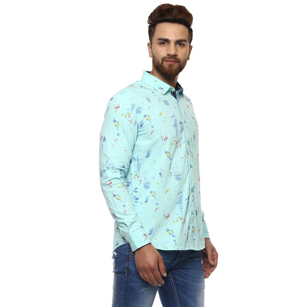 Camla Mens Aqua Shirts