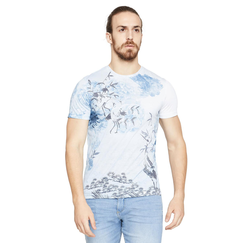Camla Men Regular Fit Round T-Shirt