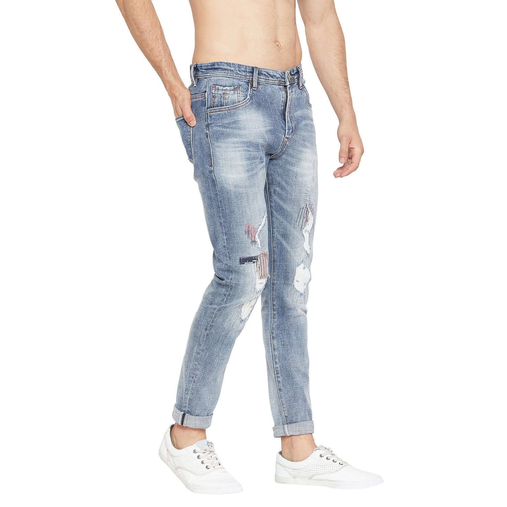 Camla Men  Dark Blue Denim Jeans