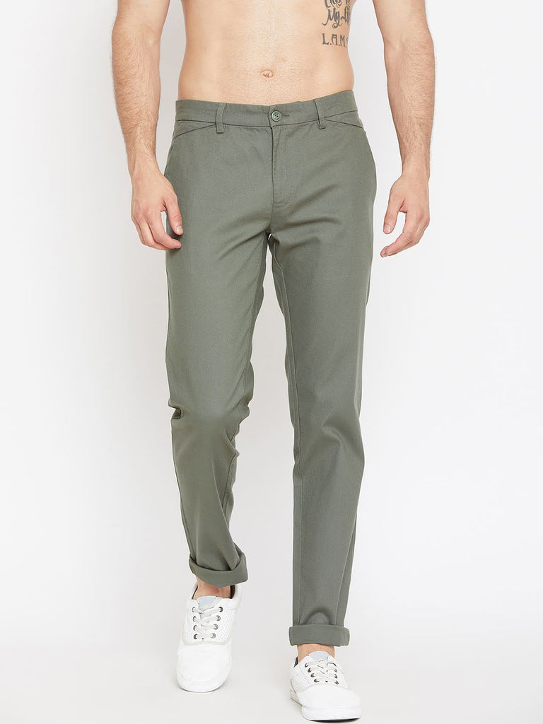 Camla Bottle Green Trousers