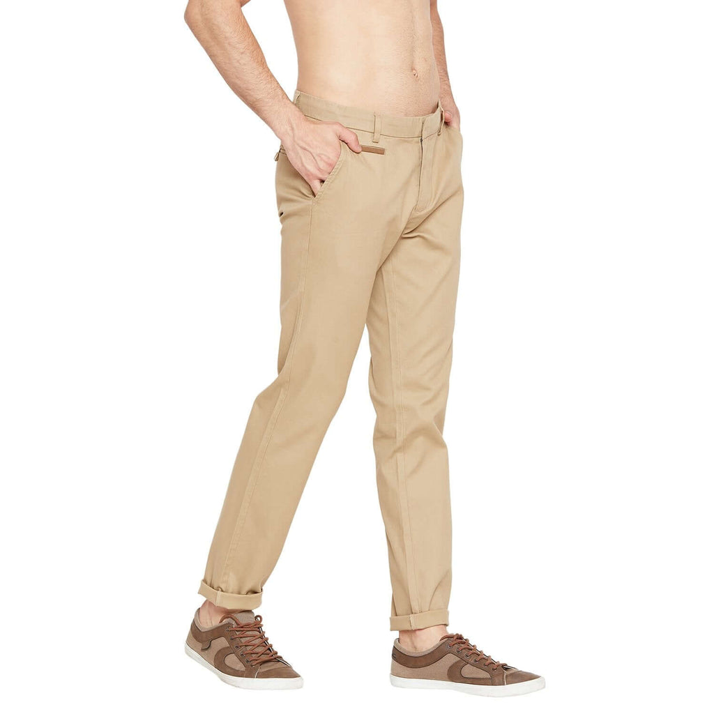Camla Men Beige Casual Trousers