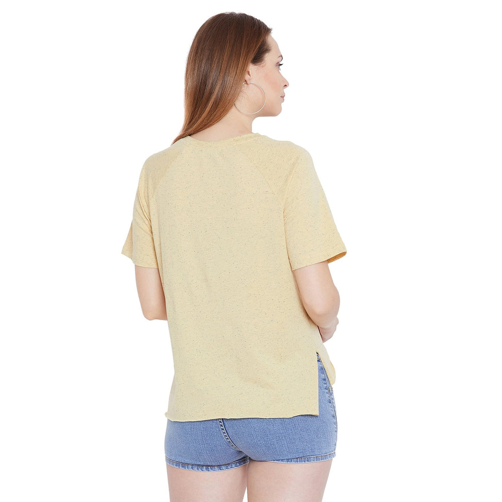 Camla Women Yellow Printed Top