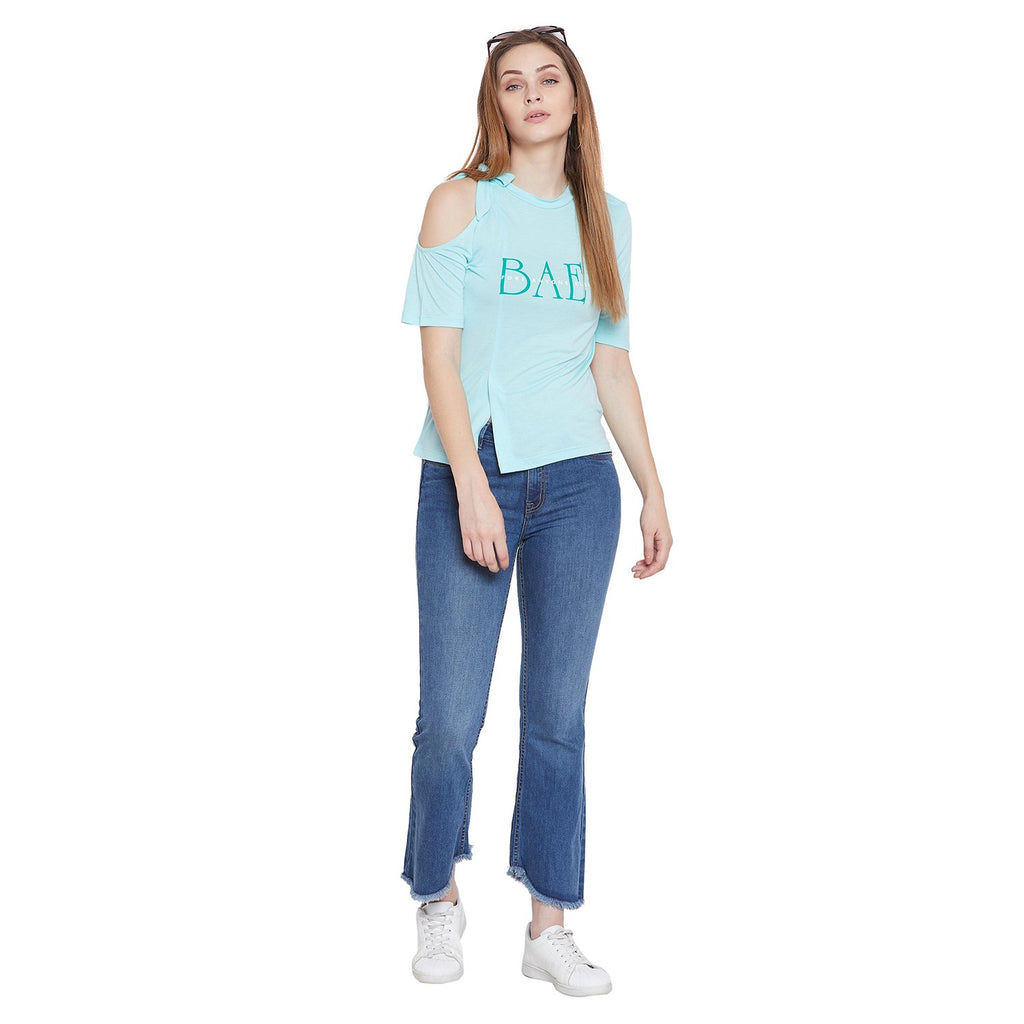 Camla Women Aqua Solid Top