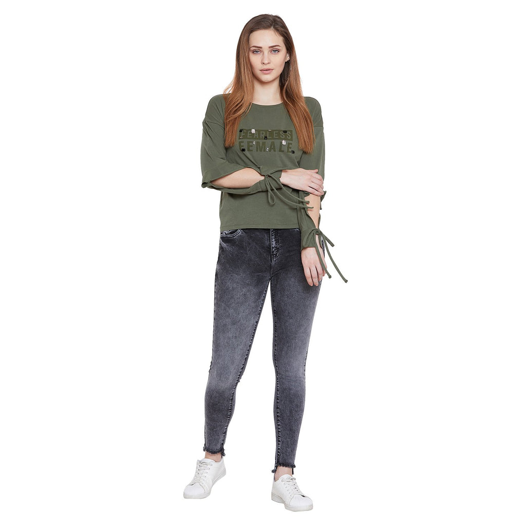 Camla Women Olive Top