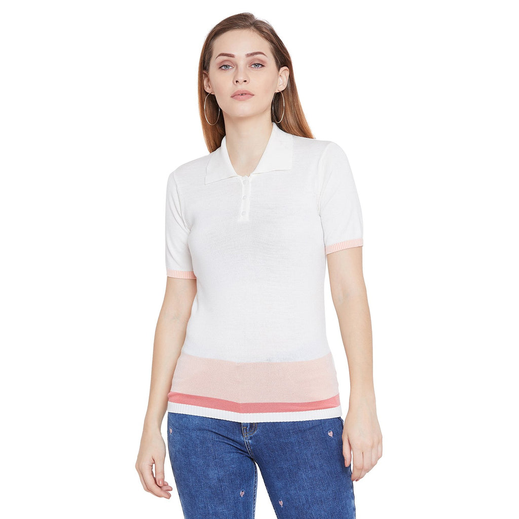 Camla Women Off White Top