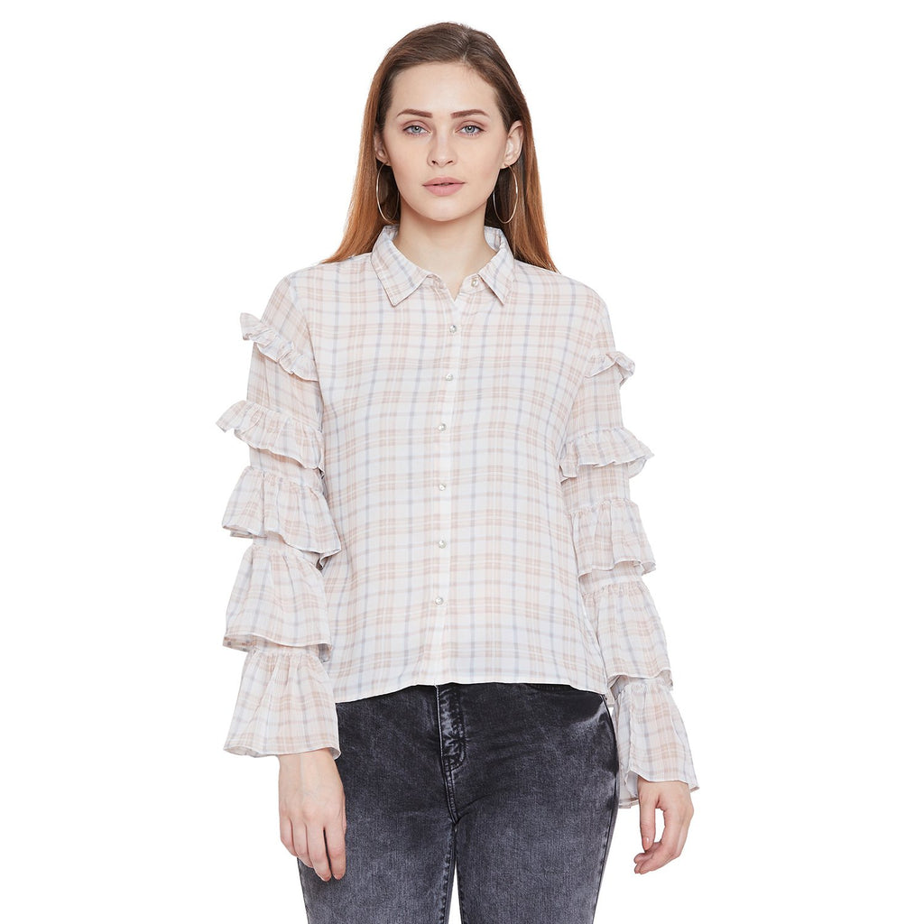 Camla Women Beige Solid Shirt