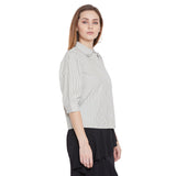 Camla Women Olive Solid Shirt