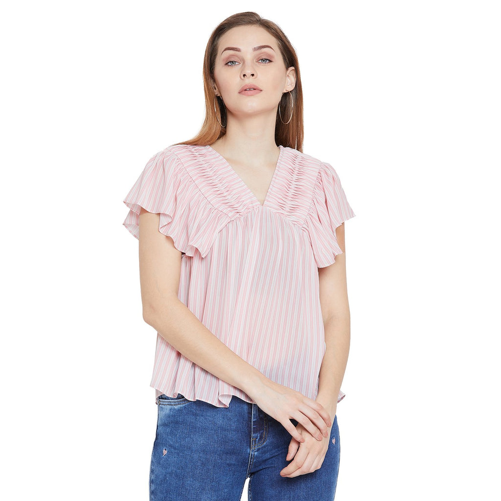 Camla Women Dusty Pink Solid Top