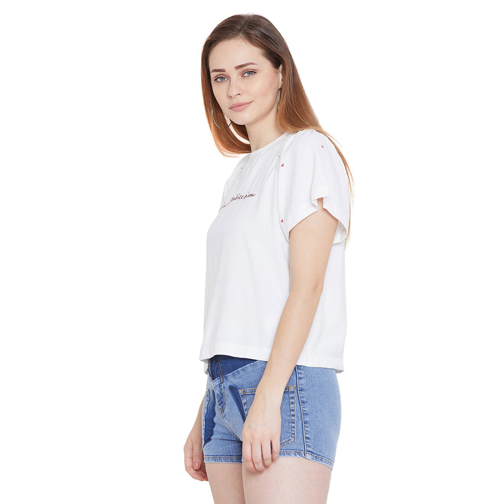 Camla Women White Solid Top