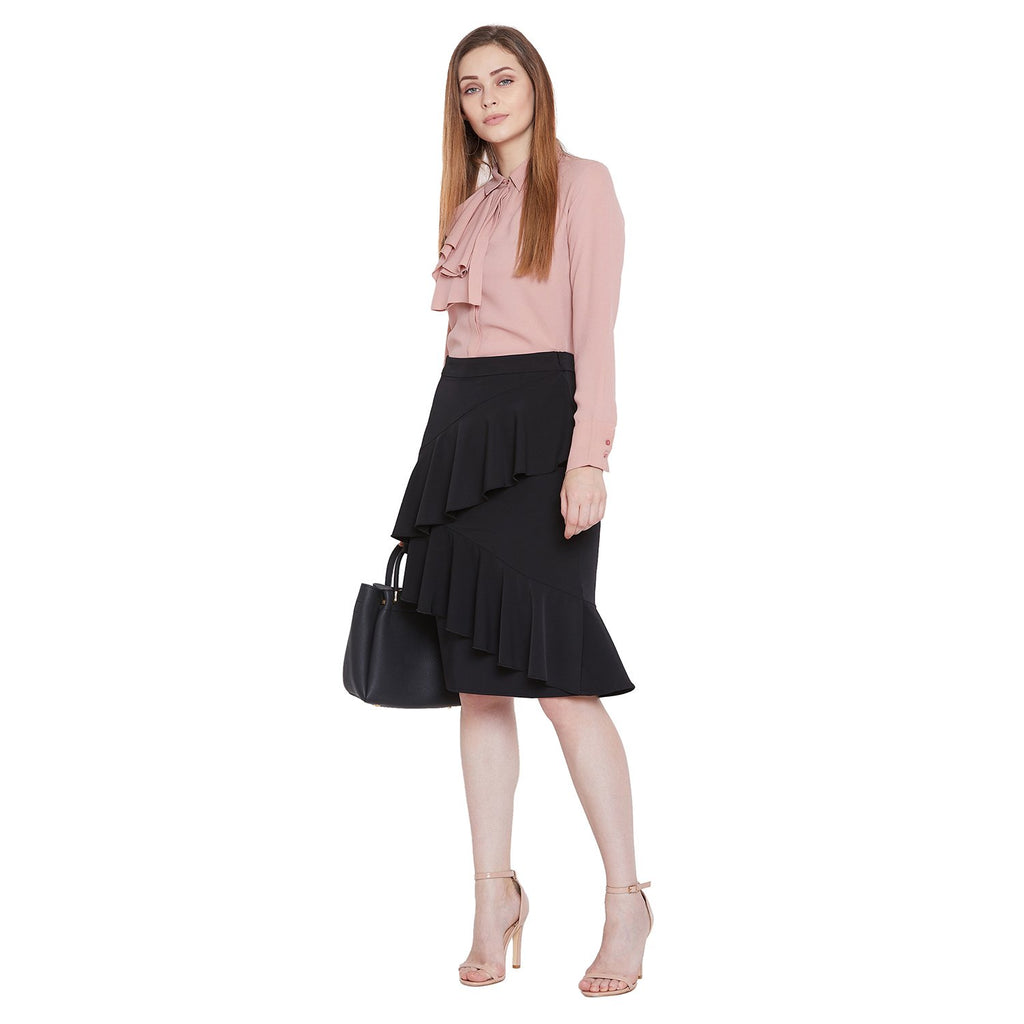 Camla Women Black Solid Skirt