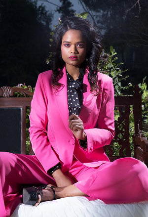 Valentine Essential- Madame Hot Pink Color Blazer