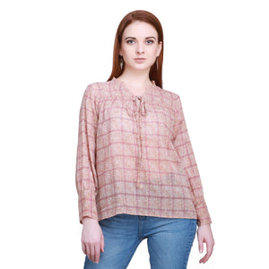 Madame Women Coral Textile Top