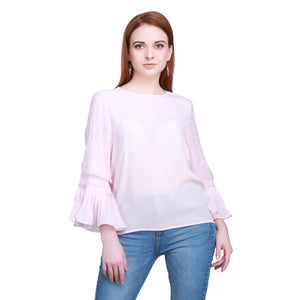 Madame Women Pink Textile Top